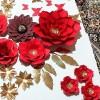گل کاغذی و گل فومی پایه دار
